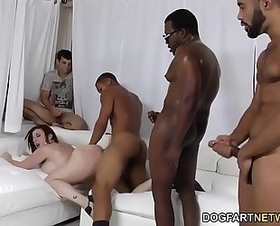 Slut sara jay group-fucked by dark ramrods