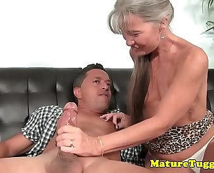 Smalltit gilf jerking ramrod on daybed