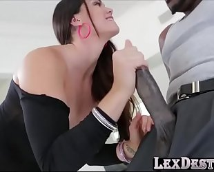 Alison tyler takes a bbc in her soaking soaked twat