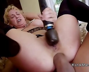 Milf acquires anal fist and pussy fuck