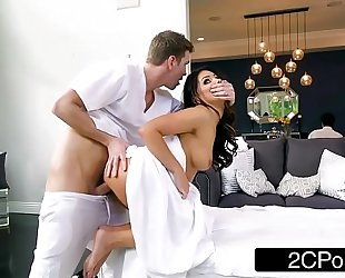 Sneaky BBC slut adriana chechik letting masseuse fuck her in the a-hole
