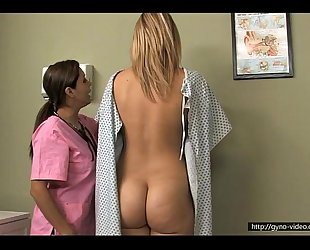 Blonde medical exam