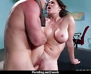 Sexy wild milf likes coarse sex at work 5