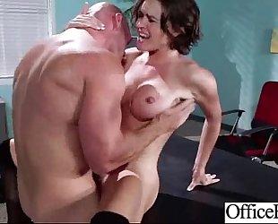 Big melon billibongs BBC slut (krissy lynn) hard gangbanged in office video-22