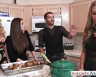 Hot beauties brooklyn chase, nicole aniston and summer brielle receives nailed