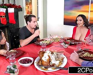 Horny bored mamma ava addams copulates her daughter's boyfriends on christmas