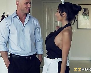 Huge hooters maid ava addams pounded with a biggest wang