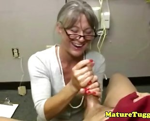 Granny aged massages wang