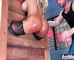 Gorgeous amateur wife (bridgette b) with oiled large wazoo acquire anal sex vid-13