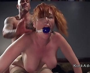 Gagged biggest bra buddies redhead anal drilled