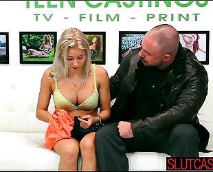 Deepthroating servitude sex for large tittied black cock sluts