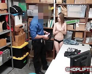 Shoplifter kimmy granger acquires blackmail stripsearch