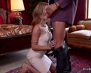 Tied up milf butt licked and paddled