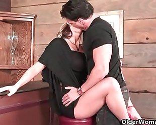 Milf receives anal creampie