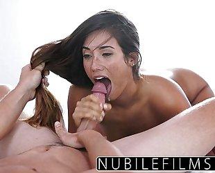 Eva lovia takes bosses weenie and cum