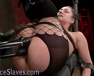 Strapped to reclining board hottie drilled
