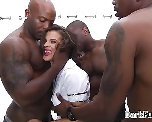 Brutal monster dick anal team fuck - keisha grey