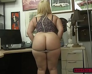 Sexy nina kayy undresses exposed and acquires screwed in the office