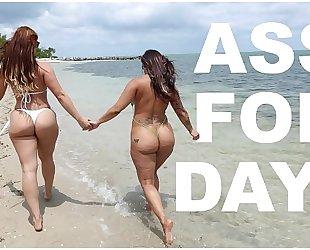 Bangbros - lalin girl lesbian babes spicy j & miss raquel's asstastic day at the beach
