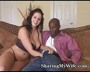 Busty wifey devours massive rod
