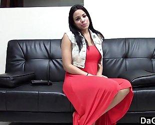 Hot latin babe fucking her casting agent