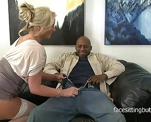 Horny cougar has a thing for massive dark dongs