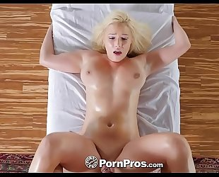 Pornpros breasty blond kylie page raunchy massage and fuck