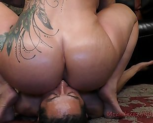Boss ryan conner makes the janitor take up with the tongue her arse
