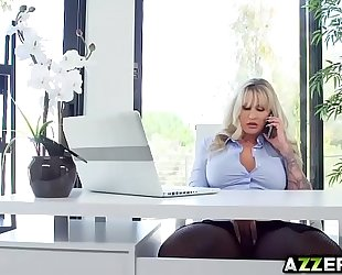 Busty milf ryan conner sexy anal office fuck