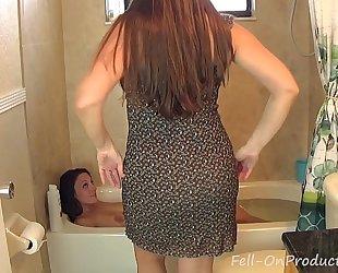 Madisin lee & melanie hicks in mama washes daughters hair. black cock sluts on slutty wife hair wash