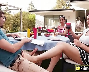 Skyla novea drilled by her mom's fresh bf