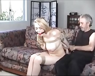 Busty golden-haired floozy kagney linn karter fastened and gagged greater quantity sexygirlzcam.com