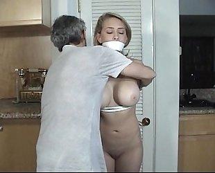 Door to door dirty slut wife tied and gagged part two