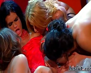 These lesbos got aroused