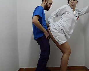 Nurse doing 1st help on knob