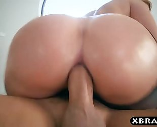 Big wazoo in stockings of brooklyn follow filled by a large penis
