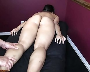 Hot oriental acquire erotic massage and pleased ending