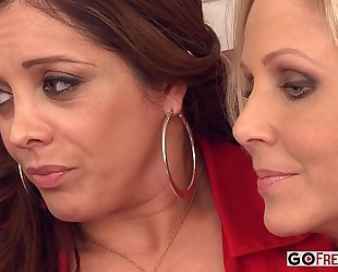 Francesca le julia ann lexi lamour receives comforted by her milf ally