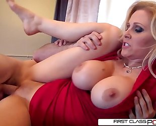 Julia's spouse can't live without watching her getting pounded by other males