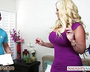 Chesty cougars alura jenson and jewels jade sharing a large schlong