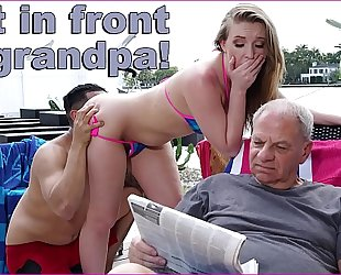 Bangbros - bruno fucks harley jade in front of her grandad like a savage