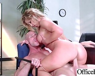Office excited horny white wife (cherie deville) with large melon milk sacks have a fun hard group-sex mov-24