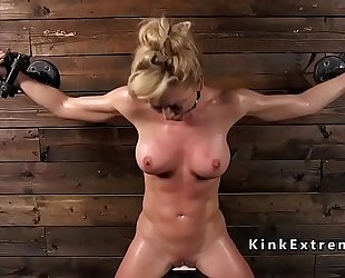 Busty milf in slavery rides sybian