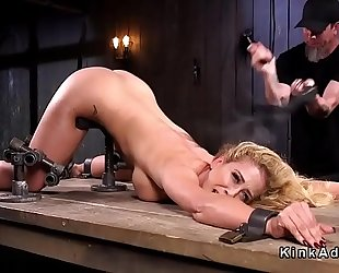 Stunning breasty thrall whipped and toyed