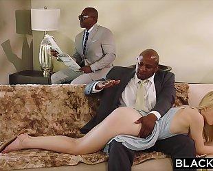 Blacked unrepining girlfriend punished by 2 dark chaps