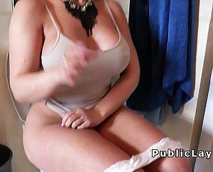 Massive titties dilettante bangs after shower