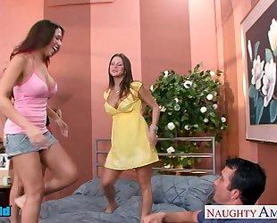 Hot brunettes mariah milano, rachel roxxx and rachel starr fuck a stud