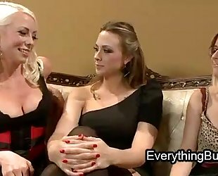 Babe anal mistreated by 2 lesbo honeys