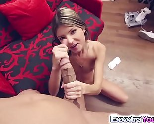 Petite gina gerson destroyed by a massive rod