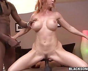Sexy milf janet mason interracial group fuck
